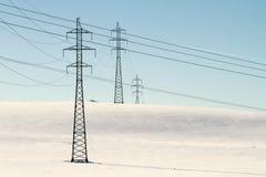 Pilone ad alta tensione di potere di elettricità Fotografia Stock Libera da Diritti
