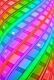 Pilone del arco iris, interior moderno, Imagen de archivo libre de regalías