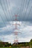 Pilone della linea di trasmissione ad alta tensione Immagini Stock