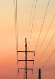 Pilone di elettricità Immagini Stock