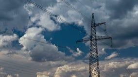Pilone di elettricità stock footage