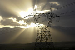 Pilone di elettricità Fotografie Stock Libere da Diritti