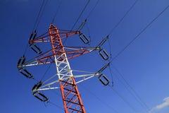 Pilone di potenza - elettricità Fotografie Stock Libere da Diritti