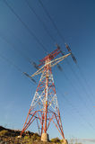 Pilone di potere di elettricità Fotografie Stock