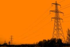 Pilone elettrico Fotografia Stock Libera da Diritti