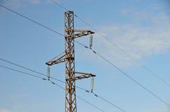 Pilone elettrico della trasmissione Immagini Stock Libere da Diritti