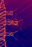 Pilone elettrico infrarosso fotografie stock libere da diritti