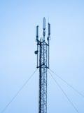 Pilone satellite, tecnologia di telecomunicazione   Fotografie Stock Libere da Diritti