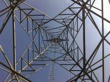 Pilones de alto voltaje del poder Imagen de archivo libre de regalías