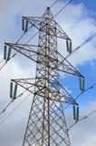Pilones de la electricidad Fotos de archivo