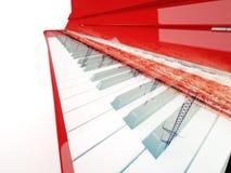 Pilones del piano y de las líneas eléctricas Fotografía de archivo