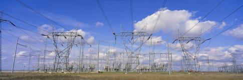 Pilones eléctricos Fotografía de archivo