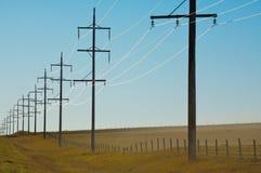 Piloni di elettricità Immagini Stock Libere da Diritti