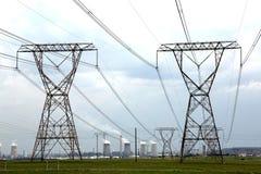 Piloni di energia e di potere Immagine Stock Libera da Diritti