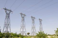 Piloni elettrici Fotografia Stock Libera da Diritti