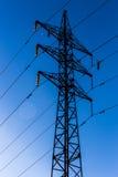Piloni elettrici Fotografia Stock