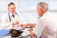 Aeromedical Examen Royalty-vrije Stock Foto