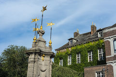 Pilory Fountain in Mons, Belgium Royalty Free Stock Photos