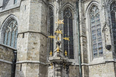 Pilory Well Fountain in Mons, Belgium. royalty free stock images