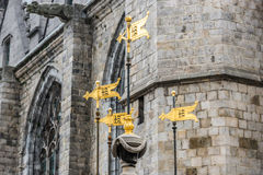 Pilory Well Fountain in Mons, Belgium. Royalty Free Stock Image