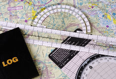 Pilot�s Navigational Gear Stock Image