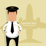 Pilot stock illustration