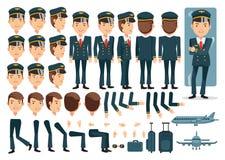 Pilot- stock illustrationer
