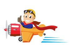 Pilot airplane Royalty Free Stock Photography