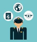 Pilot airplane Royalty Free Stock Image