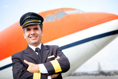 Pilot at the airport Royalty Free Stock Photography