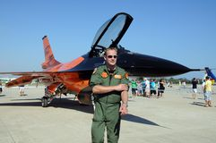 Free Pilot And F-16 Falcon. Royalty Free Stock Photography - 50688687
