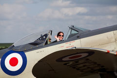 Pilot anna walker in a seafire Royalty Free Stock Photo