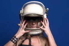 pilot blondynkę Zdjęcia Stock