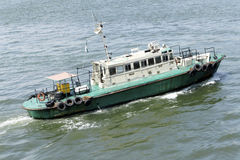 Pilot boat. In the sea of nigeria Royalty Free Stock Photos