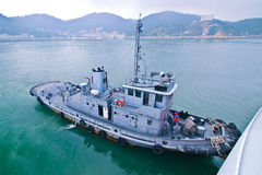 Pilot boat. Is navigation and push boats Royalty Free Stock Photos