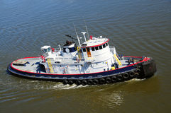 Pilot Boat. A view of a pilot boat which is used to transport pilots between land and the inbound or outbound ships that they are piloting stock image