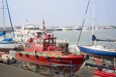 Pilot boat in Dry Dock, Kusadasi, Turkey Royalty Free Stock Photography