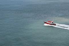 Pilot boat on duty royalty free stock image