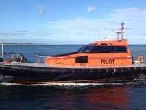 Pilot boat. Entering Queenscliff harbour Stock Photo