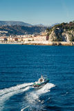 Pilot boat heading back to Nice harbour Stock Photography