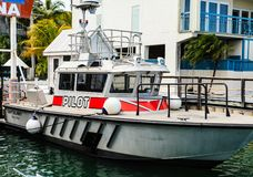 Pilot Boat in Key West royalty free stock images