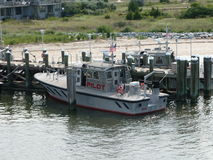 Pilot boat. At the Lewes Ferry port, Delaware, USA Royalty Free Stock Photography