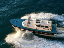 Pilot boat in Livorno harbour Royalty Free Stock Image