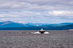 Pilot boat at the mouth of the Columbia River Royalty Free Stock Photography