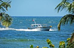 Pilot boat returning to port Stock Photography