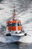 Pilot boat in the sea Royalty Free Stock Image