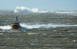 Pilot boat in a storm Royalty Free Stock Photography