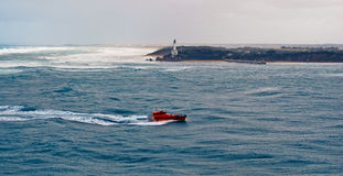 Pilot boat in a storm Royalty Free Stock Photos