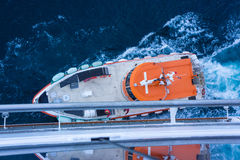 Pilot boat to cruise ship Stock Images