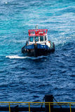 Pilot Boat to Pier Royalty Free Stock Image